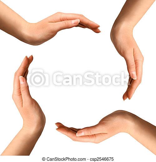 indgåelse, cirkel, hænder - csp2546675