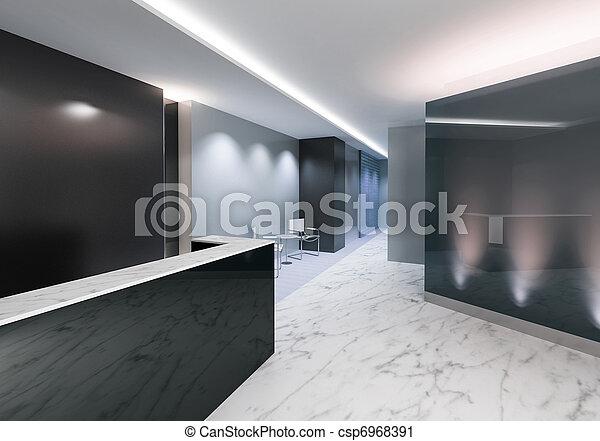 indgang, kontor, område - csp6968391