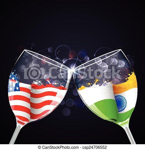 india-america, 関係 - csp24706552