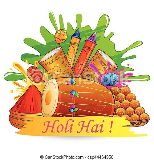 how to draw holi festival