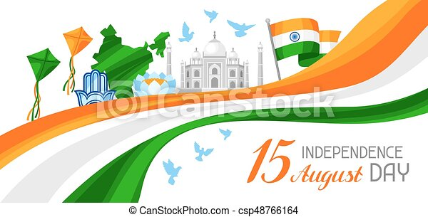 india independence day banner celebration 15 th of august clip art rh canstockphoto com indian independence day clipart indian independence day border clipart