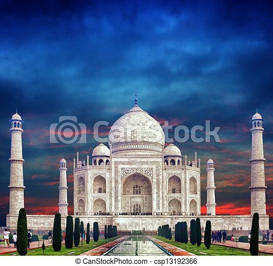 india., mahal, indianin, taj, pałac - csp13192366
