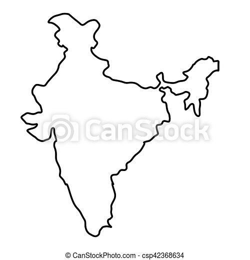 India Map Silhouette   Csp42368634