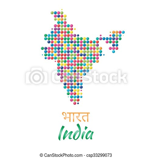India map vector black multicolor dotted design. India border map ...