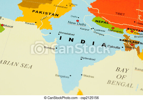 India on map - csp2125156