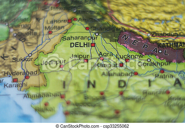 India on map . - csp33255062