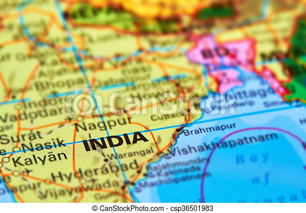 Large Map Of India.India On The Map India Large Asian Country On The World Map