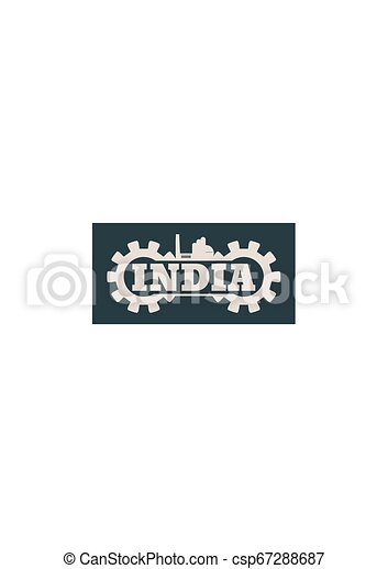 La palabra India se acumula en marcha - csp67288687