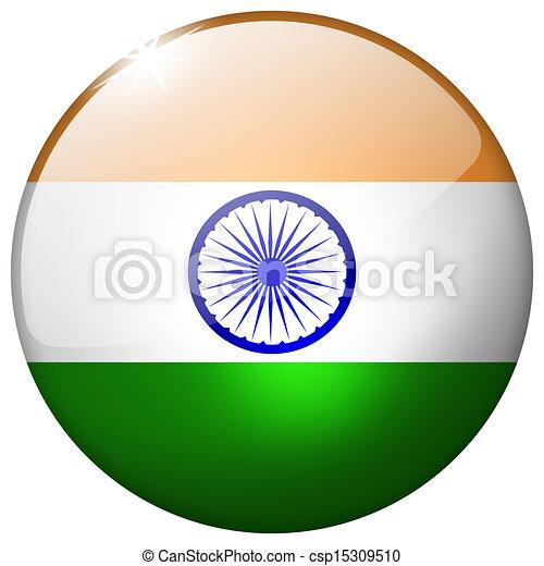 India Round Glass Button - csp15309510