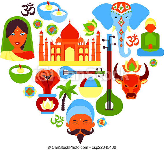 india symbols heart india travel culture religion symbols in heart rh canstockphoto com india clipart images indian clipart images