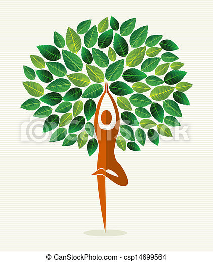 India yoga leaf tree - csp14699564