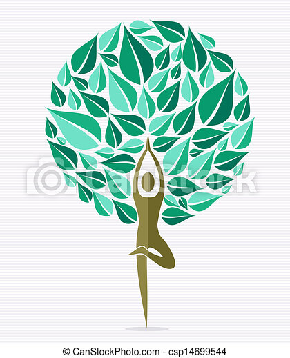 India yoga leaf tree - csp14699544