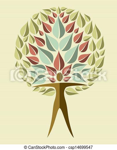 India yoga leaf tree - csp14699547