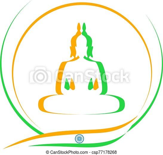 indian, すてきである, シンボル - csp77178268
