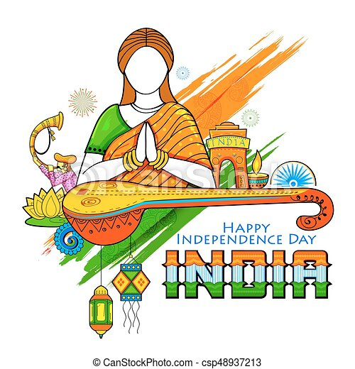 illustration of indian background with woman doing namaste vector rh canstockphoto com indian clipart images indian clipart