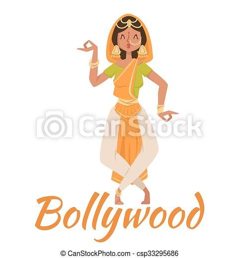 Indian Bollywood couple dancing  - csp33295686