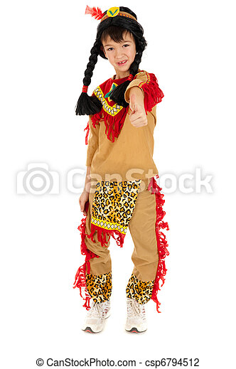 Indian boy isolated on white - csp6794512