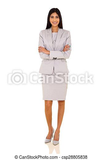 indian businesswoman portrait - csp28805838