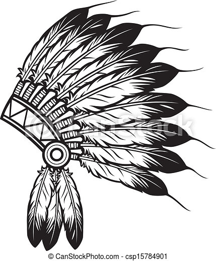 indian chief headdress  - csp15784901