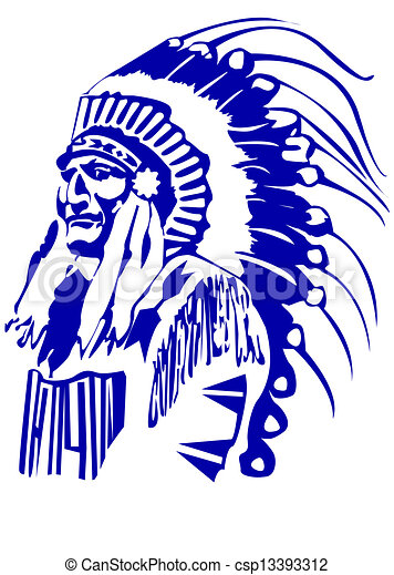 indian chief mascot head rh canstockphoto com Indian Chief Head Logo Indian Warrior Logo