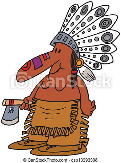 indian chief mascot vector clipart search illustration drawings rh canstockphoto ca indian chief head clipart indian chief clipart