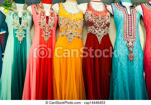05ec5e3a06 Indian clothes hanging on a manequin. Indian traditional clothes for ...