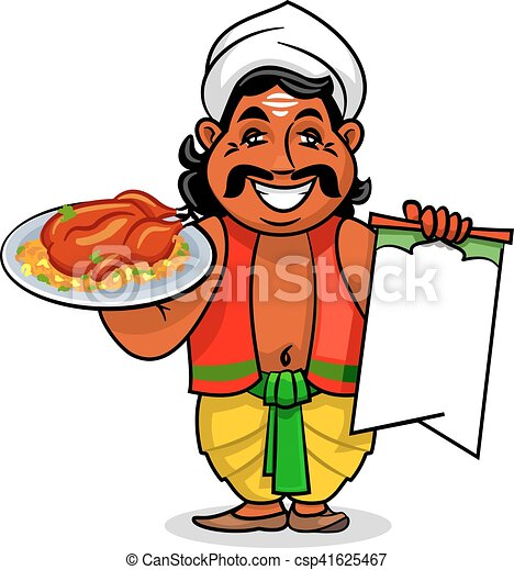 indian cook with menu and chicken curry rice indian cuisine clip rh canstockphoto com indian clipart png indian clipart free download