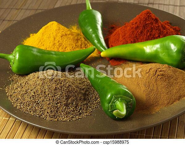 Indian cuisine - csp15988975