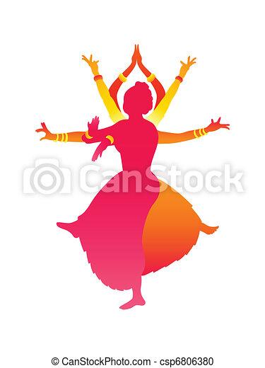 Indian dancers - csp6806380