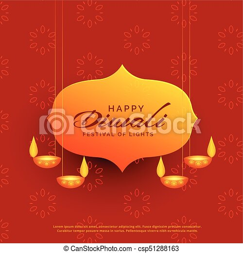 Indian diwali festival greeting card design with hanging lamps indian diwali festival greeting card design with hanging lamps csp51288163 m4hsunfo