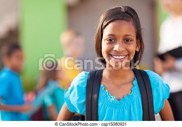 indian elementary schoolgirl - csp15080931