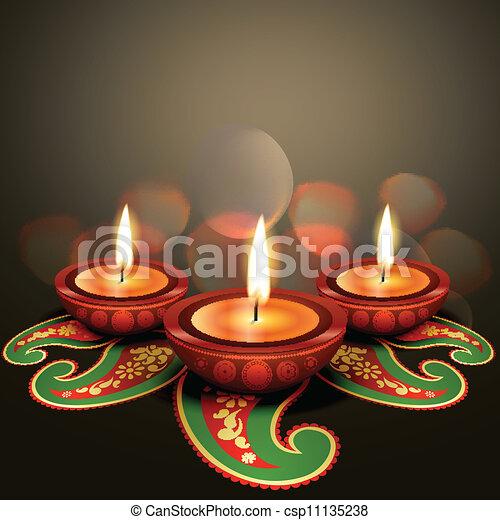 indian festival diwali - csp11135238