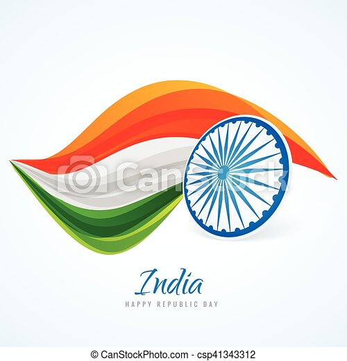 indian flag abstract design