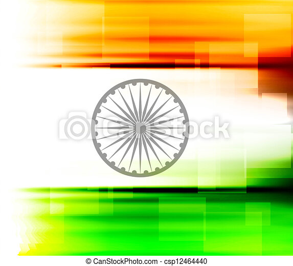 indian flag texture colorful design vector - csp12464440