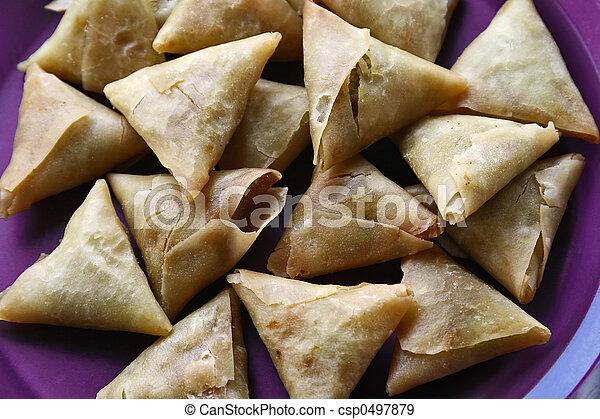 Traditional Indian Food Samusa Triangles