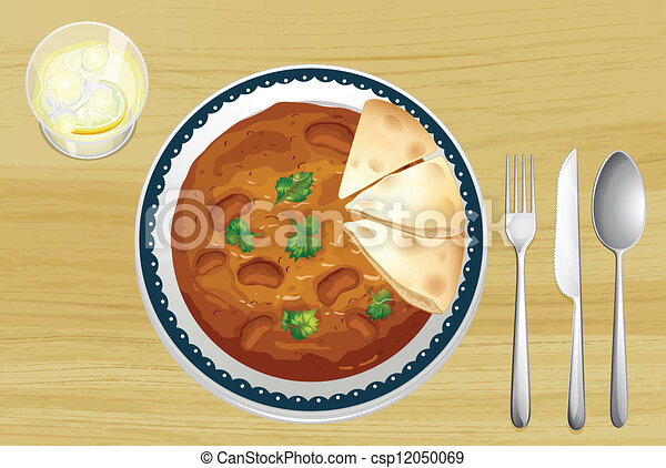 Indian food with bread - csp12050069