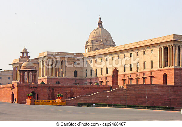 Indian Government buildings built o - csp9468467