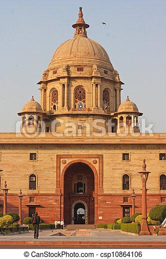Indian Government buildings, Raj Path, New Delhi, India  - csp10864106