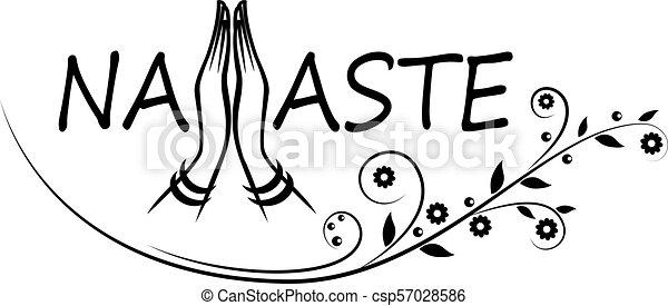 Indian greeting banner Namaste - csp57028586