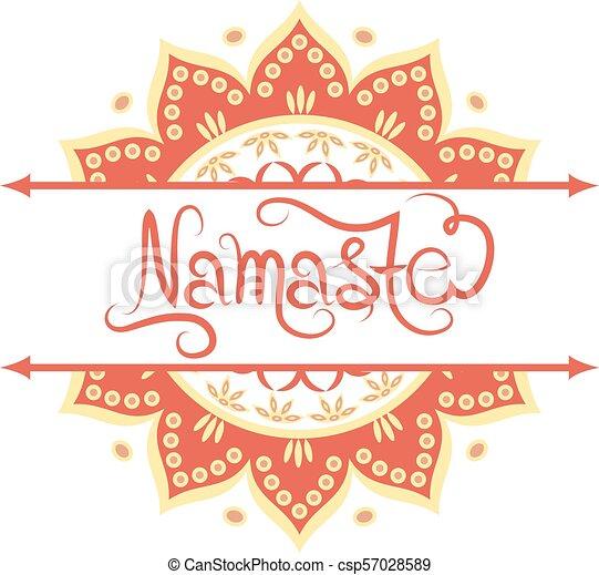 Indian greeting banner Namaste - csp57028589