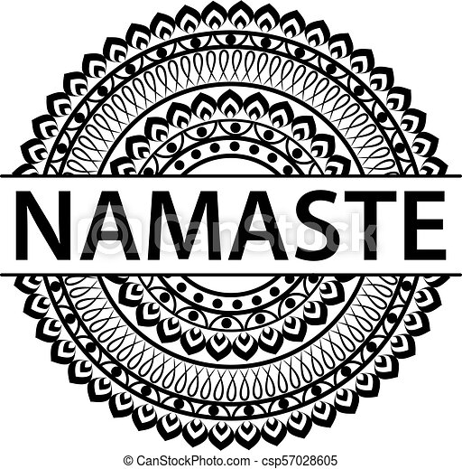 Indian greeting banner Namaste - csp57028605