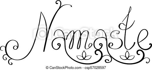 Indian greeting title Namaste - csp57028597