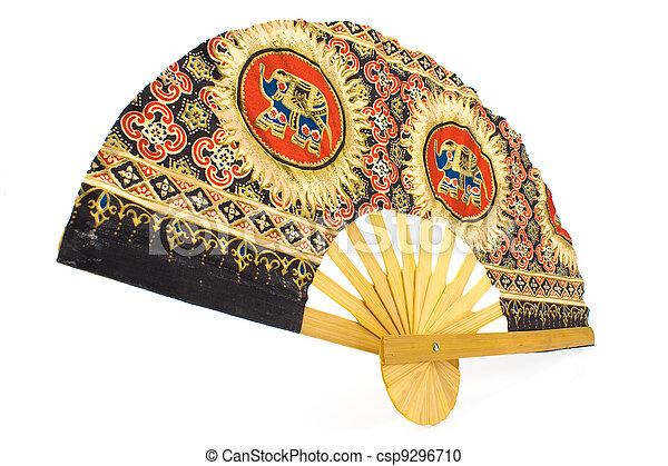 indian hand fan clipart. indian hand fan - csp9296710 clipart o
