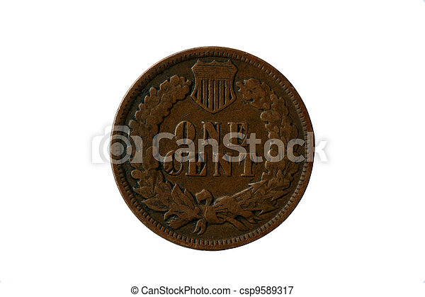 Indian head penny back - csp9589317