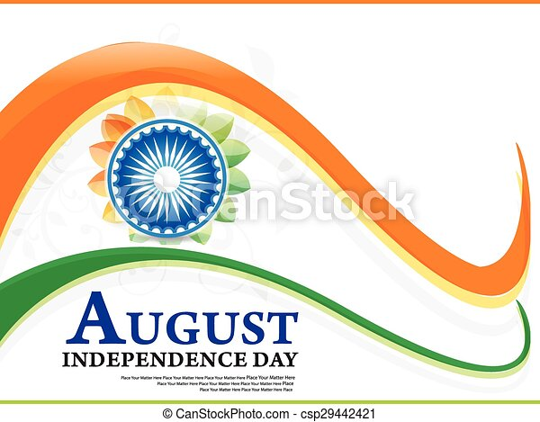 indian independence day wave - csp29442421