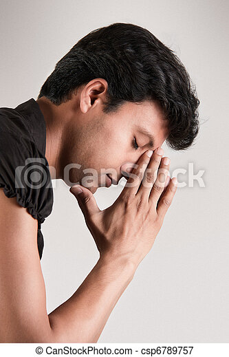 Indian man thinking position with c - csp6789757