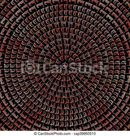 Indian Mandala. - csp39950510