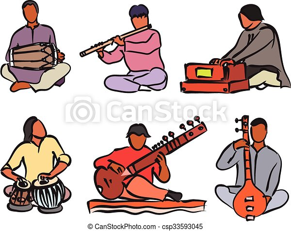 indian musician set indian musician playing traditional musical rh canstockphoto com