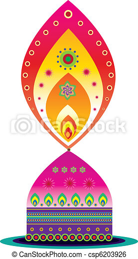 Indian oil lamp - csp6203926