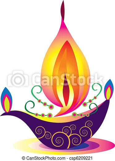 Indian oil lamp - csp6209221